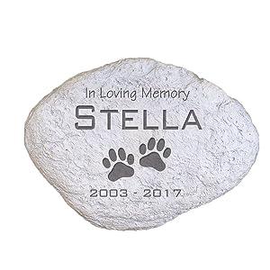 """GiftsForYouNow Engraved Pet Memorial Garden Stone, 11"""" W, Durable, Waterproof, Indoor/Outdoor"""