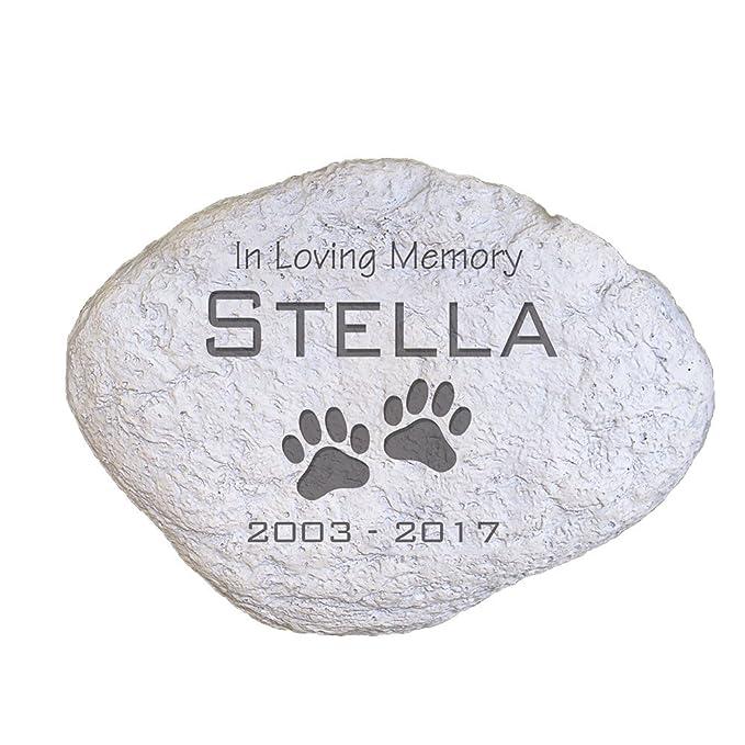 GiftsForYouNow Engraved Pet Memorial Garden Stone, 11