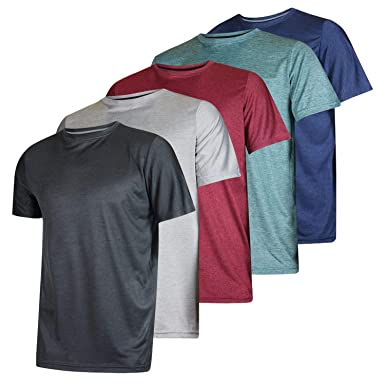 345b4611 Men's Quick Dry Fit/Dri-Fit Short Sleeve Active Wear Training Athletic  Essentials Crew