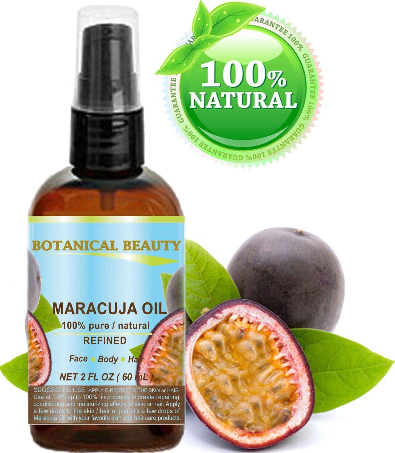 fruta de la pasión aceite. 100% puro/naturales. kaltgepr esste/unverwässert–60ml. Para Cara, pelo y cuerpo.