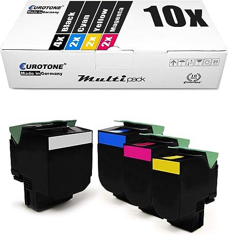 10x Müller Printware Xxl Toner Im Set Für Lexmark Cs317dn Cs417dn Cs517de Cx317dn Cx417de Cx517de Cs 317 417 517 Dn De Ersetzt 71b0010 71b0020 71b0030 71b0040 Bürobedarf Schreibwaren