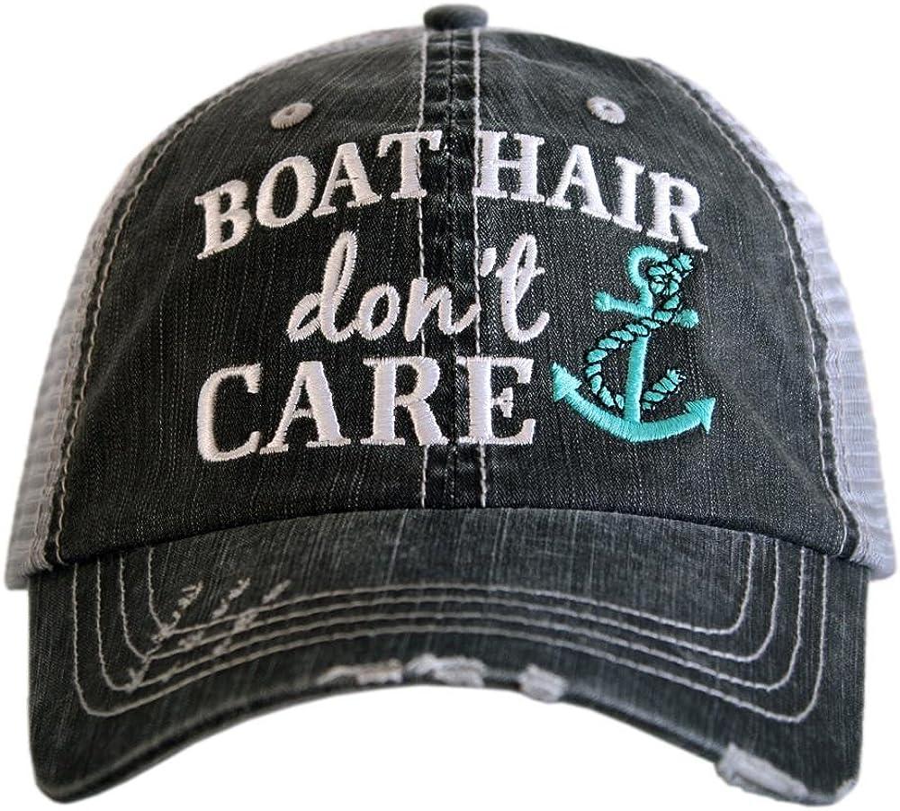 Katydid Boat Hair Don't Care Baseball Hats Caps