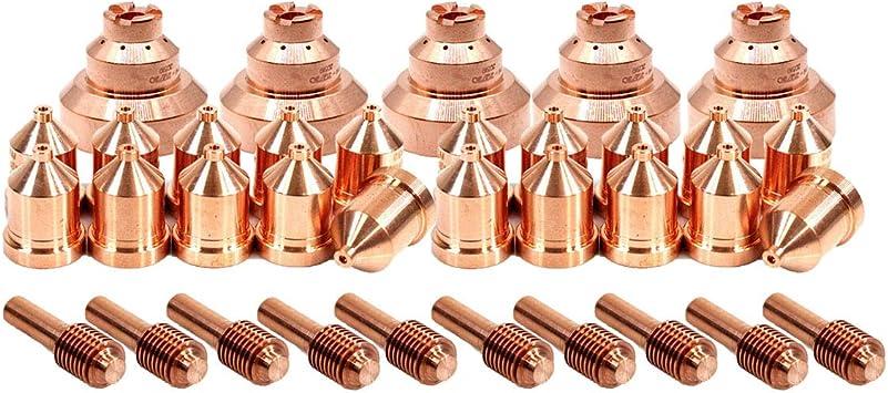 Plasma Tip 212726 Electrode 212724 Drag Shield 212730 for Miller ICE-80CX ICE-80T//TM Torch 25pcs