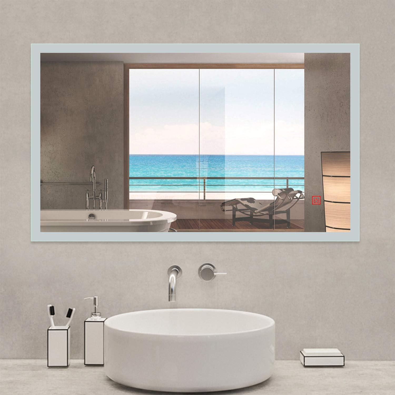 AICA SANITARIOS Espejo de baño 45x60 cm Espejo led - Interruptor ...