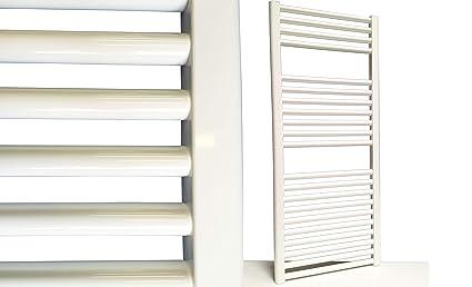 Radiador de baño Smyrna Blanco 1800 x 400 mm. recto toallero calentador de toallas blanco