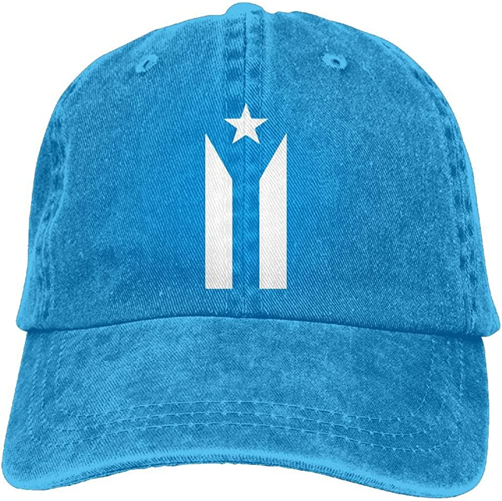Puerto Rico SE Levanta Unisex Baseball Cap Cotton Denim Unique Adjustable Sun Hat for Men Women Youth Blue
