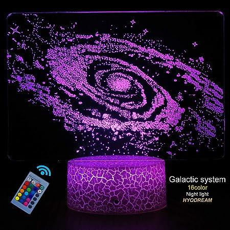 HYODREAM - Lámpara de ilusión óptica 3D, Sistema Solar, luz ...