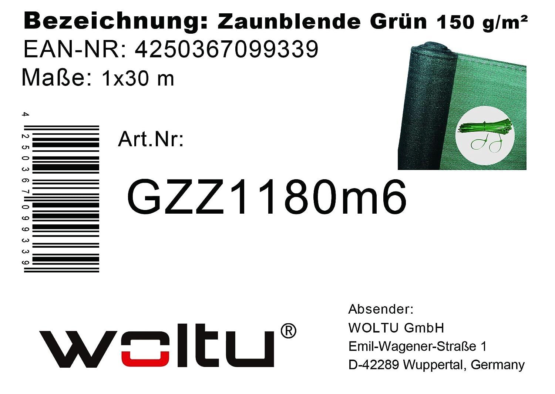 la poussi/èr,1,2x30m,Vert WOLTU GZZ1181m6 Brise Vue Renforc/é pour balcon protection contre le vent,le soleil