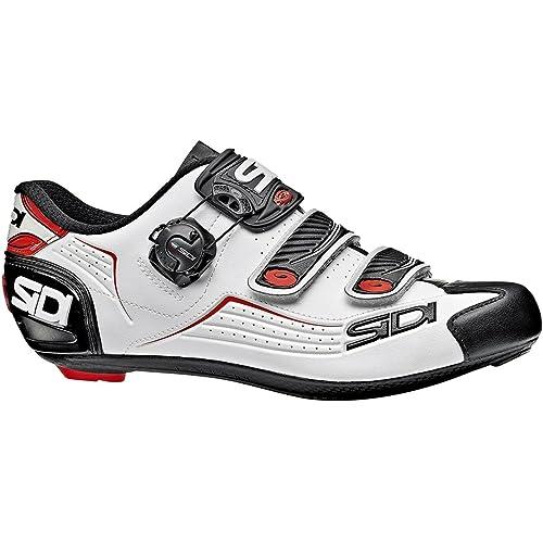 Sidi Zapatillas de Ciclismo de Material Sintético para Hombre Blanco Bianco Nero Rosso: Amazon.es: Zapatos y complementos