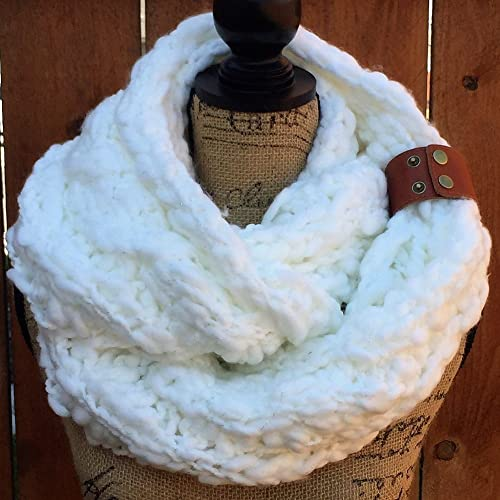 Amazon Com Infinity Knit Thick Scarf Scarf By Uptown Girl Co Handmade