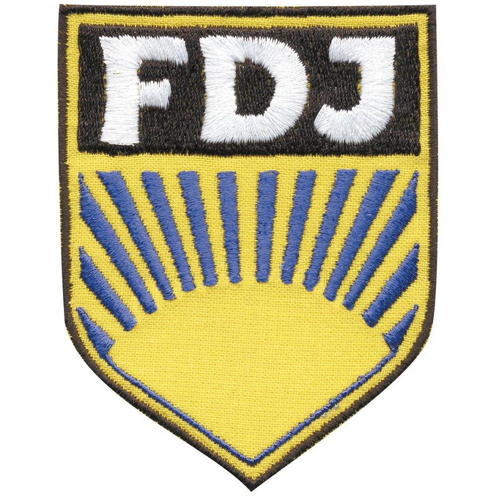 cucire-su patch - DDR - FDJ - 04195 - TGL circa 6, 5 x 8, 5 cm - Patch STICK applicazione Fan-O-Menal