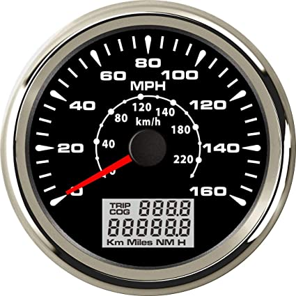 Amazon ELING MPH GPS Speedometer Velometer 160MPH 220KM H Trip Counter Odometer For Car Racing Motorcycle 3 8 12V 24V Automotive