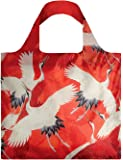 LOQI Museum Woman's Haori White and Red Cranes Reusable Shopping Bag