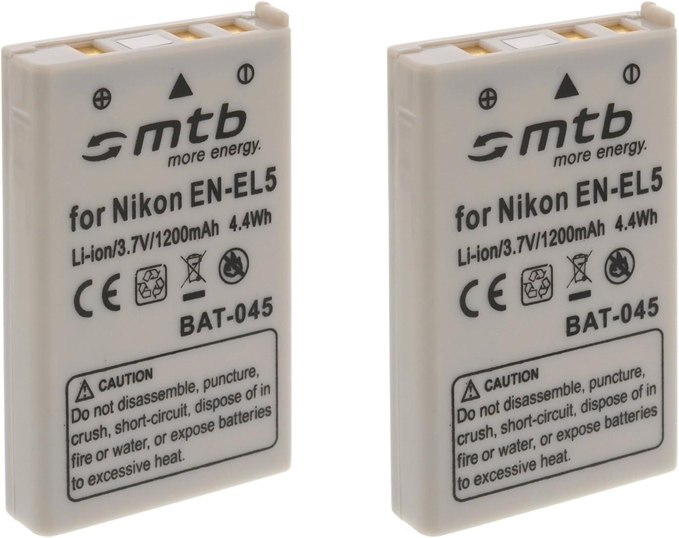 2X Batería EN-EL5 para Nikon Coolpix P80, P90, P100, P500, P510, P5000.Ver Lista!