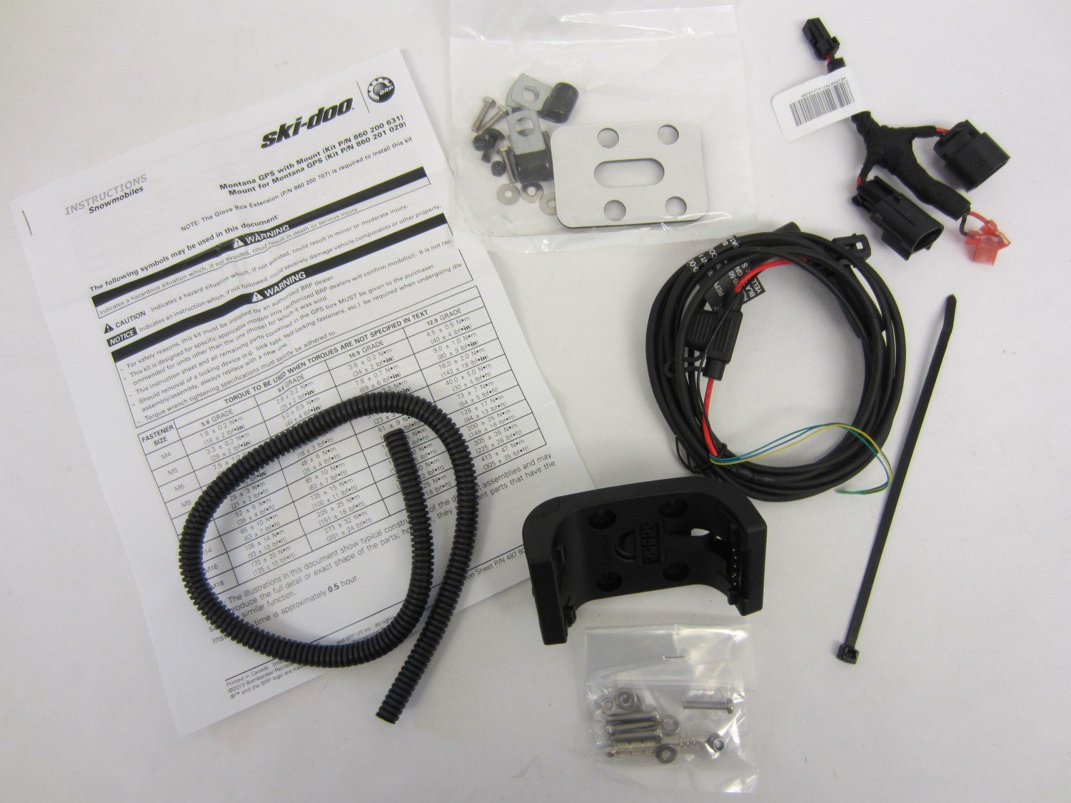 Ski-Doo New OEM Montana GPS Support Kit 860201029 Wire Harness & Mount