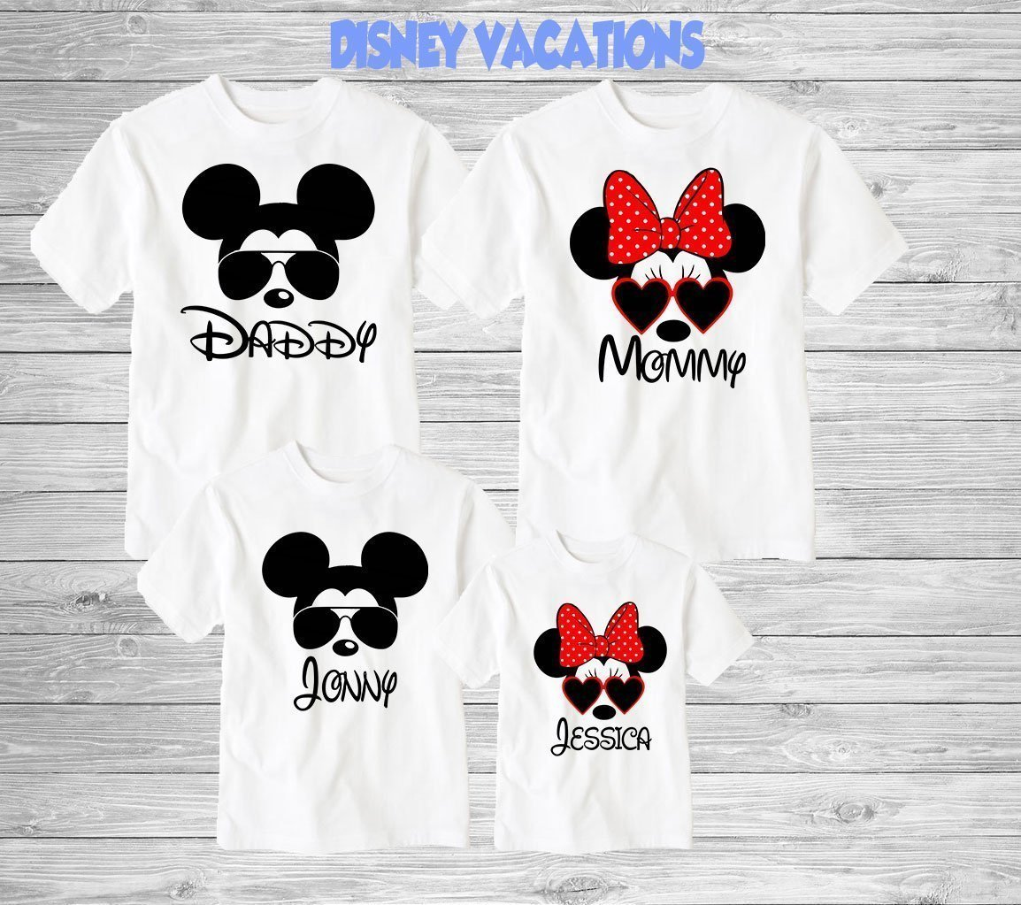 Disney Family Shirts Disney Shirts Disney Family Shirts Mickey Minnie Custom T Shirt Personalized Disney Shirts For Family Shirts Matching