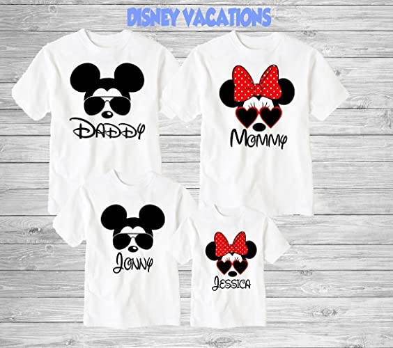 ef9b1c615 Amazon.com: Disney Family Shirts Disney Shirts,Disney Family Shirts, Mickey,  Minnie,Custom T-shirt,Personalized Disney Shirts for Family Shirts  Matching: ...