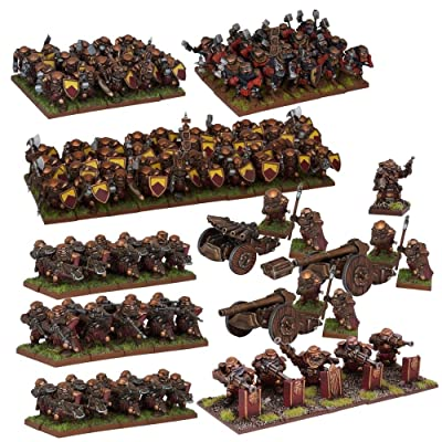 Mantic Games MGKWD111 Dwarf Army Miniature Game, Multi-Colour: Toys & Games