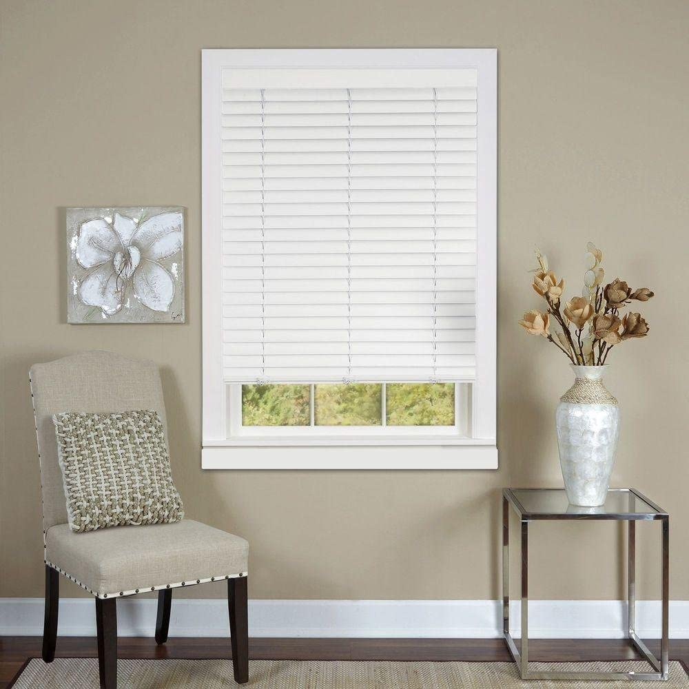 PowerSellerUSA Achim Home Furnishing Cordless GII Luna 2 Slat White Venetian Window Blinds 31 W x 64 L