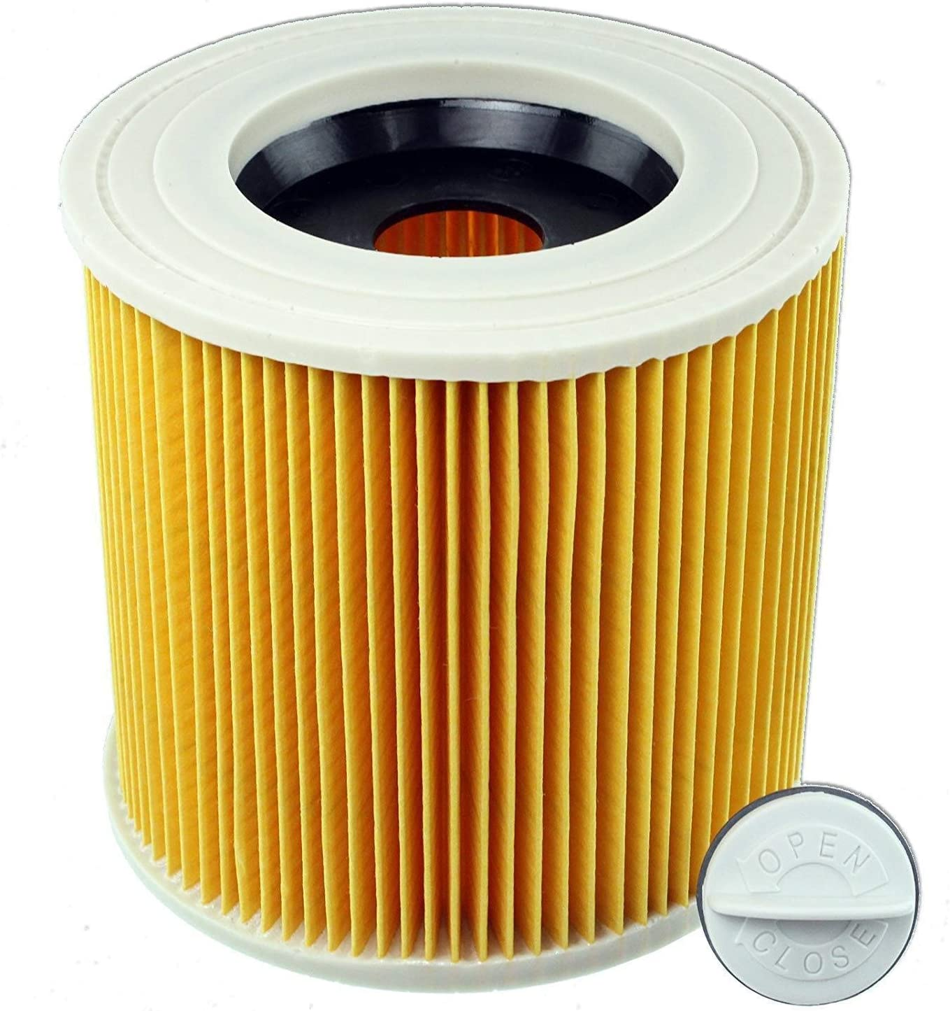 Yellow Filter Vacuum Cleaner For Karcher Wet Dry A2054 WD3.200 WD3.300 WD2.250