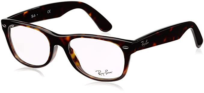 de98faaefa1c Ray-Ban 0rx5184 No Polarization Square Prescription Eyewear Frame, Dark  Havana, 52 mm
