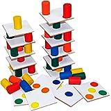 Carlu Brinquedos - Torre Inteligente Jogo de Madeira 18, 4+ Anos, Multicor, 1262
