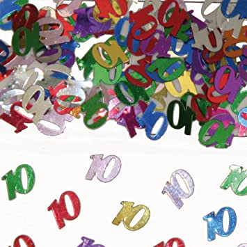 15g Confetti 10th Birthday Table Decoration Anniversary By Folat