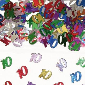 15g Confetti 10th Birthday Table Decoration Anniversary By Folat