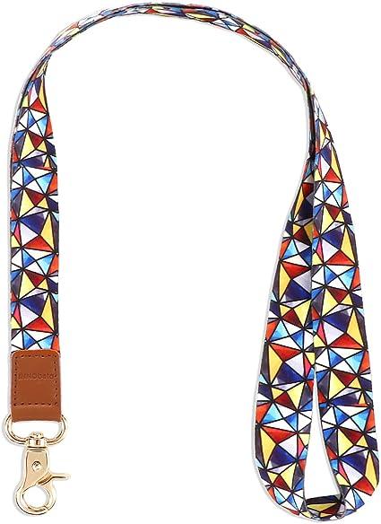 INNObeta Llaves Cuello Cuelga Correa para Cuello Cuerda con Colgar de Piel Genuina para el Key, Teléfono Móvil, USB, Tarjetas de Identificación (Mosaico): Amazon.es: Oficina y papelería