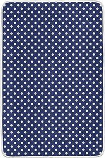 alaza Navy con Bianco Pois in Microfibra di Poliestere Coperta del tiro 60' x 90' Leggero Divano Accogliente Blanket Bed Blanket dal Mio Quotidiano