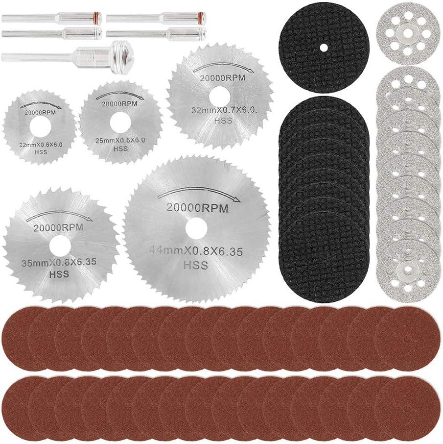 ODOMY 60PCS Rotary Cutting Wheels Tool Kit, 1/8