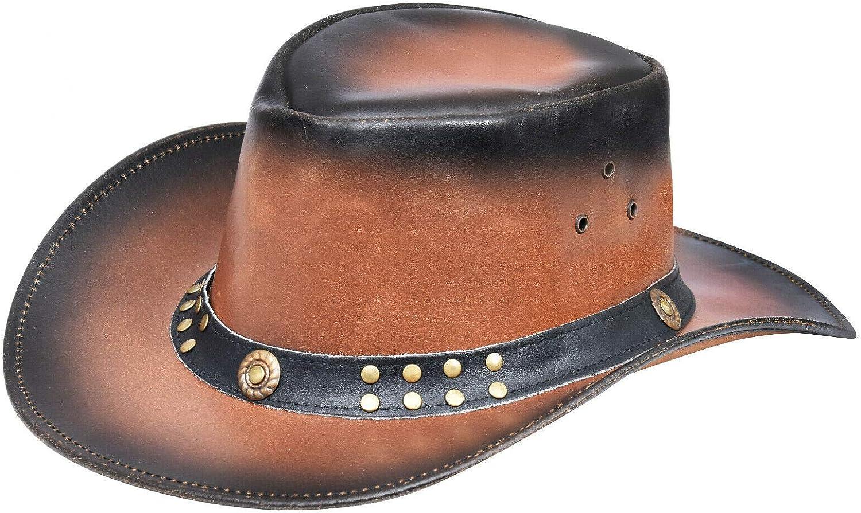 A1 FASHION GOODS Authentic Australian Bush Leder Hut Traveller Bac Pac Waxed Steer SCHWARZ Leder Cowboy Hut
