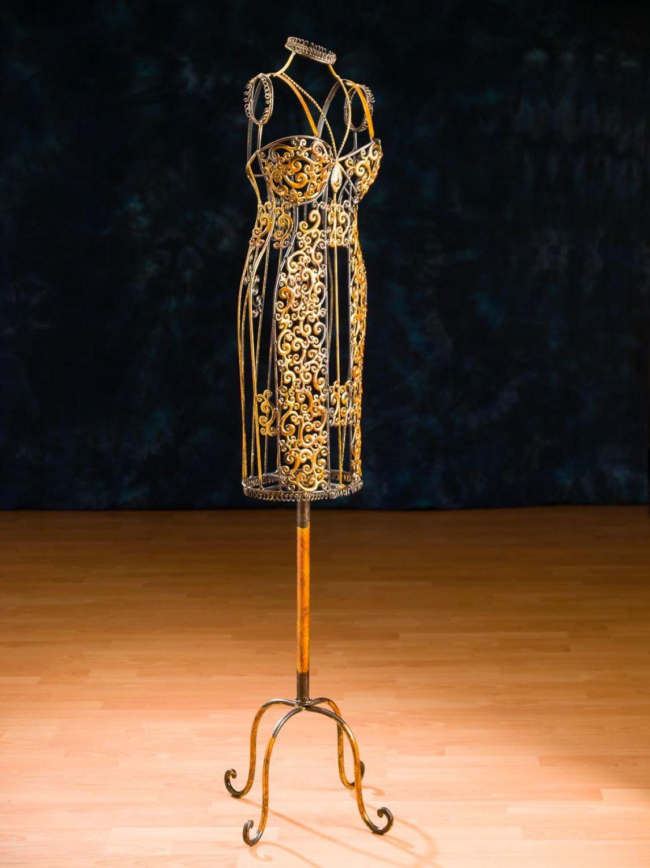 aubaho Schneiderpuppe Metall Schaufensterpuppe Kleiderst/änder Schneiderb/üste antik Stil