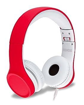 Auriculares para niños con limitador de volumen (Red)