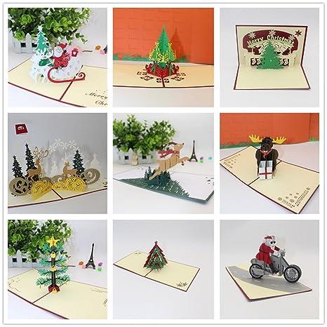 Amazon.com: Lurryly❤3D Tarjetas de Navidad cumpleaños ...