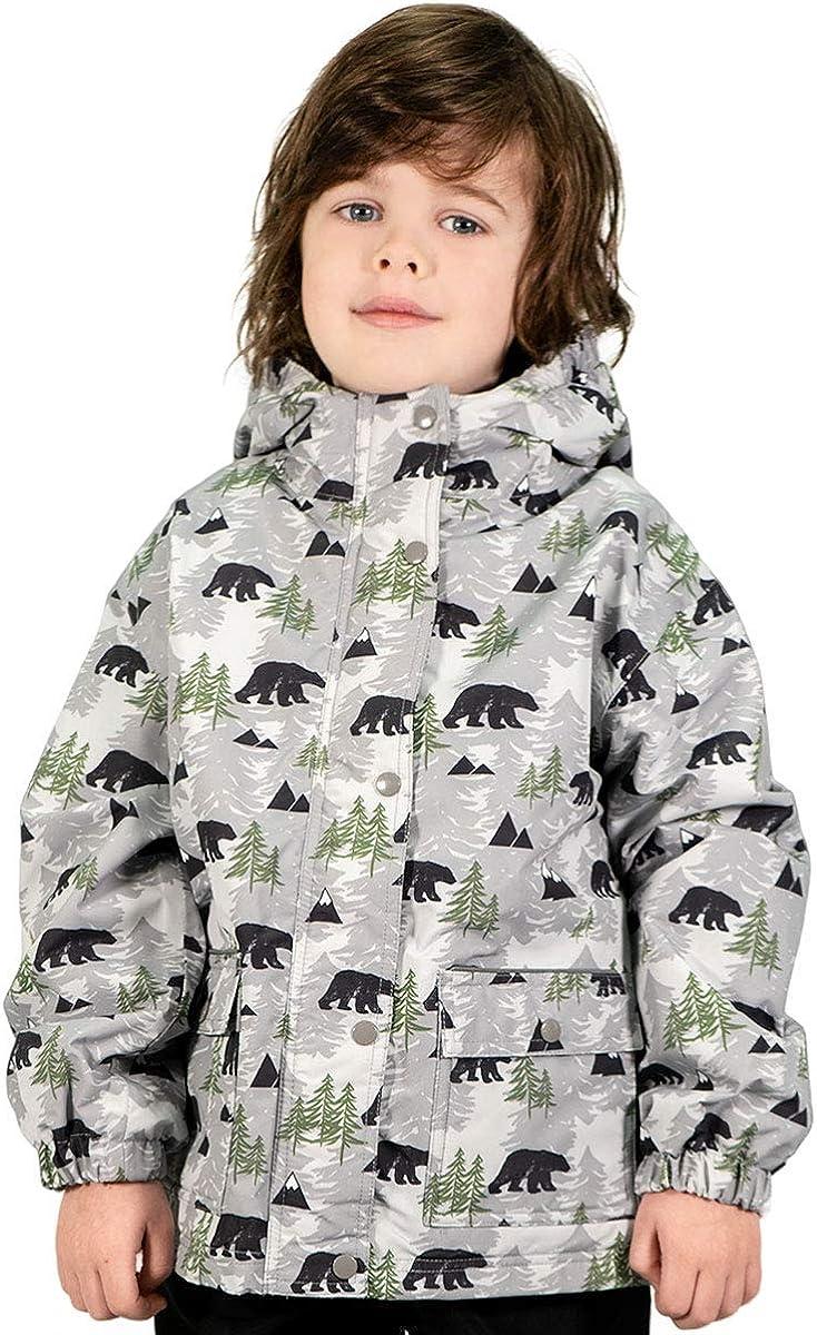 Jan /& Jul Kids Water-Proof Fleece-Lined Rain-Coat Jacket Hooded