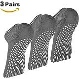AllThingsAccessory® 3 x Pairs Non Slip Yoga Pilates Socks Martial Arts Fitness Dance Barre. Anti-slip/Non-slip,Full Toe Ankle Fall Prevention Grip Socks, Sox UK 4-9 / EU 38-44