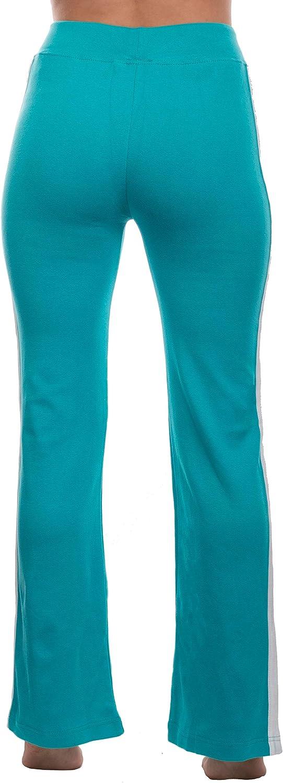 Allenamento Brandsseller Pantaloni Sportivi da Donna per Jogging Tempo Libero con Piccolo Motivo Stampato e Strisce a Contrasto