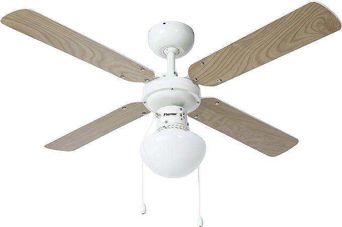 Bestron Ventilateur de plafond avec lampe, Ø 102 cm, 50 W, BlancÉrable