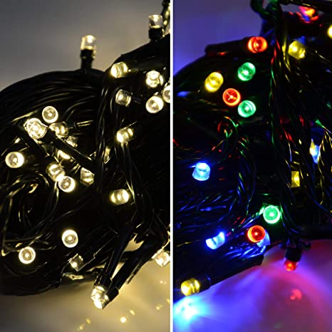 Bright Led Christmas Lights.100 Super Bright Led Dual Colour Led Christmas Lights Warm White Multi Colour