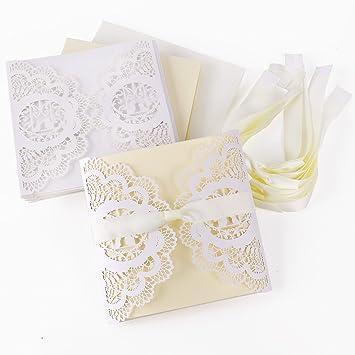 10er Einladungskarten Elegante Vogelkäfig Spitze Design Set Mit Karten,  Umschläge, Einlegeblätter Zum Selbstbedrucken +