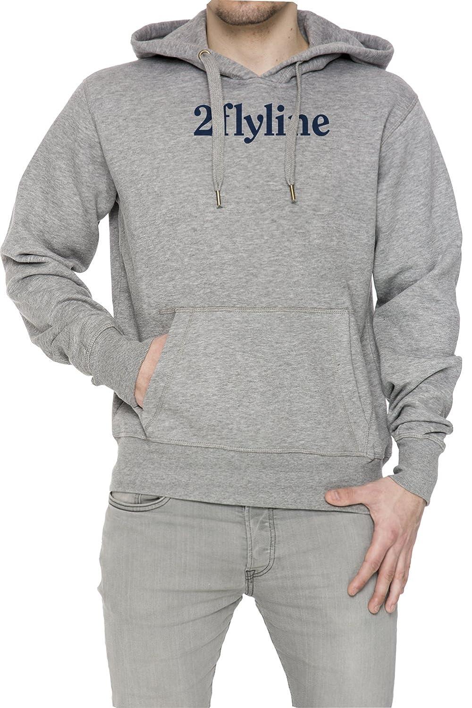 2 Fly Line Gris Algodón Hombress Sudadera Sudadera Con Capucha Pullover Grey Men's Sweatshirt Pullover Hoodie