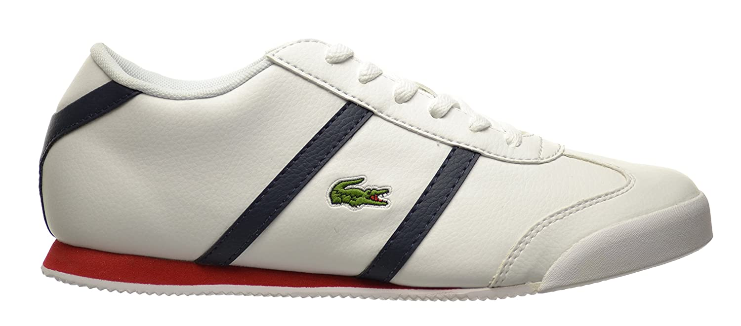 79d6cc4ba1ce4 Lacoste Tourelle CLC SPJ Big Kids Shoes White Dark Blue 7-29spj0108-x96 (7  M US)  Amazon.co.uk  Shoes   Bags