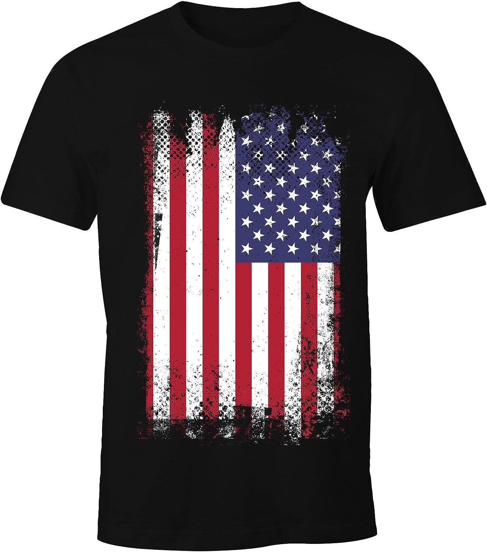 MoonWorks – Camiseta para hombre, diseño de la bandera de Estados Unidos: Amazon.es: Ropa y accesorios