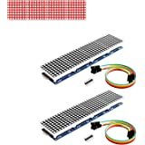 Onyehn 2pcs/Lots MAX7219 Dot Matrix Module(Red Light) 4 in 1 Display (Christmas Decoration DIY Letters Electronic…