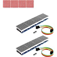 Onyehn 2pcs/Lots MAX7219 Dot Matrix Module 4 in 1 Display (Christmas Decoration DIY Letters Electronic Display) for…