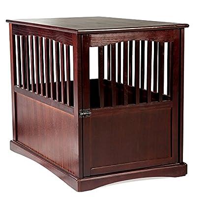 Dog Kennel Wood Bed Large Crate Oversized Pet Cage Wooden Furniture End