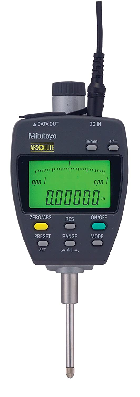 "B0006J44WK Mitutoyo 543-552A Absolute LCD Digimatic Indicator ID-F, with Back-Lit LCD, #4-48 UNF Thread, 0.375"" Stem Dia., 0-1""/0-25.4mm Range, +/-0.00012"" Accuracy 717Vs69dj0L"