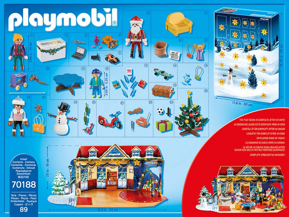 Inhalt Playmobil Adventskalender 2019, Modell 70188