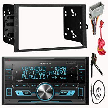 amazon com kenwood double 2 din cd mp3 car stereo receiver bundle kenwood car stereo power cords kenwood double 2 din cd mp3 car stereo receiver bundle combo with metra installation kit for